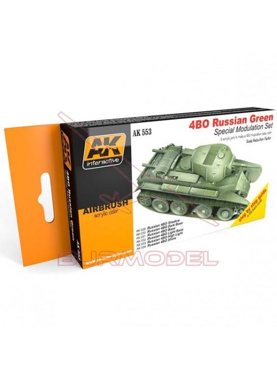 Set modulación verde ruso 4BO