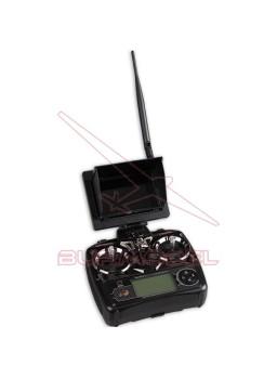Cuadricóptero con FPV en emisora