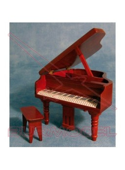 Piano con asiento color nogal