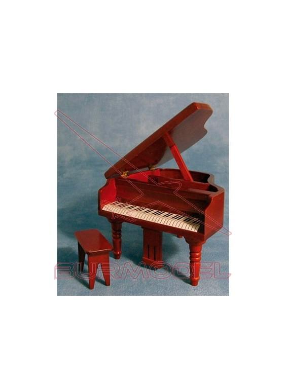 Piano con asiento color nogal