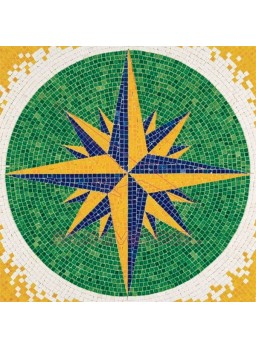Mosaico Rosa de los Vientos 300x300mm.