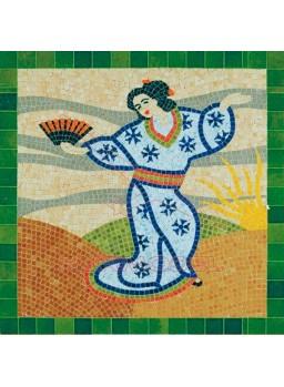 Mosaico Dibujo Japonés 30x30cm. 4500 piezas