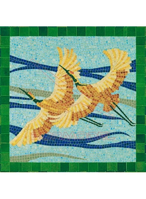 Mosaico Aves 30x30cm. 4500 piezas