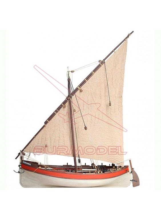 Barco de madera para montar Adriana escala 1/10