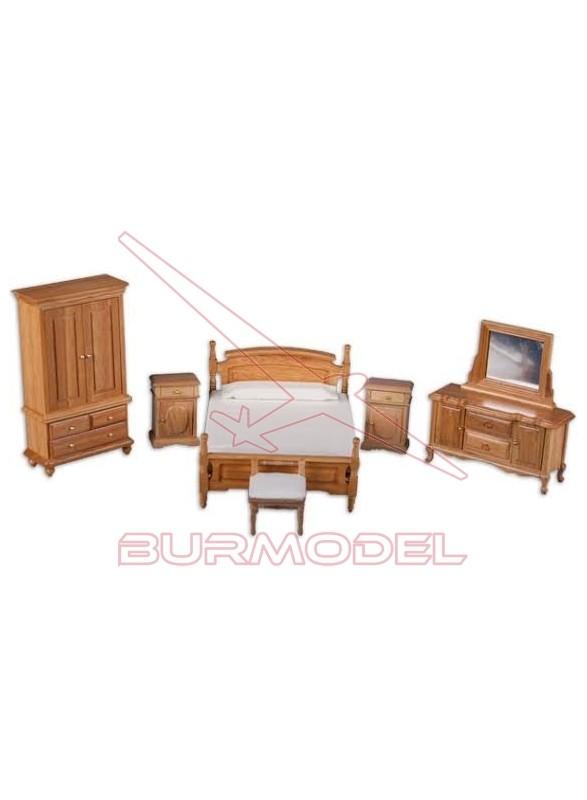 Dormitorio madera natural
