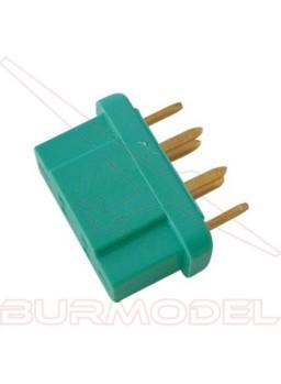 Conector corriente alta MPX macho