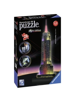 Puzzle 3D Empire State Night Edition.