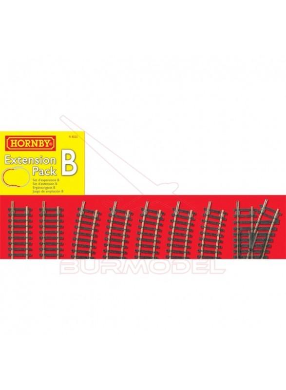 Pack extensión B vías modelismo ferroviario