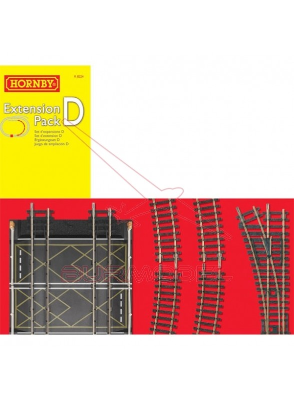 Pack extensión D vías modelismo ferroviario