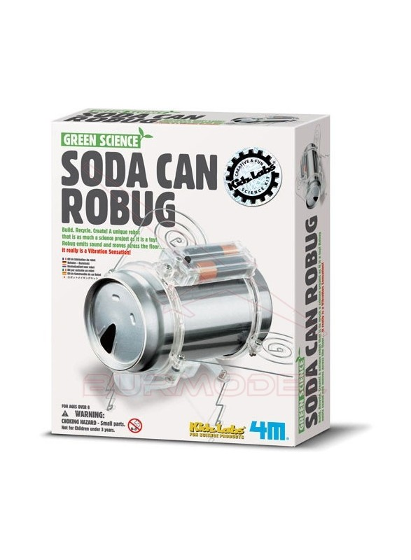 Juego educativo Soda Can Robug