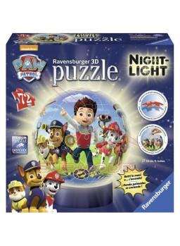 Puzzle lámpara con luz Patrulla Canina