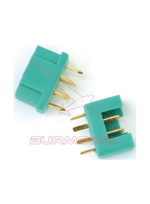 Conector multiplex macho y hembra