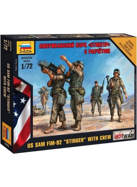 Soldados americanos con antimisil Stinger 1/72