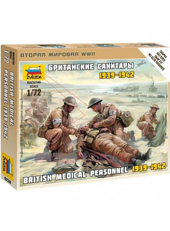 Equipo médico tropas británicas WWII 1/72
