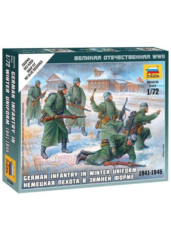 Infantería británica con uniforme de invierno 1/72