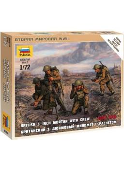 Soldados con mortero británicos 1/72