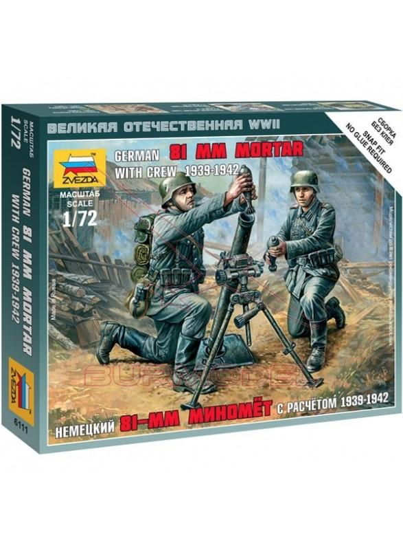 Soldados Alemanes con mortero WWII 1/72