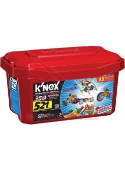 K'Nex Baúl con 521 piezas para montar 35 modelos