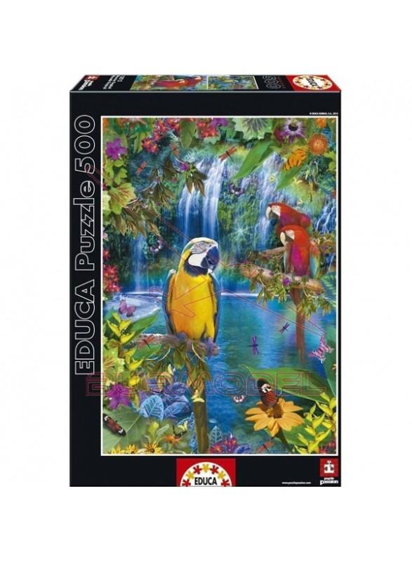 Puzzle 500 piezas paraíso tropical