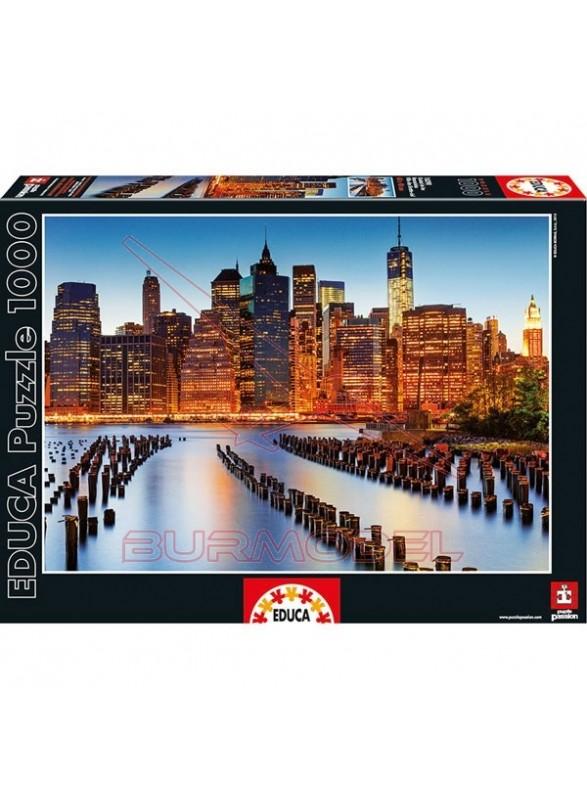 Puzzle 1000 piezas ciudad de los rascacielos