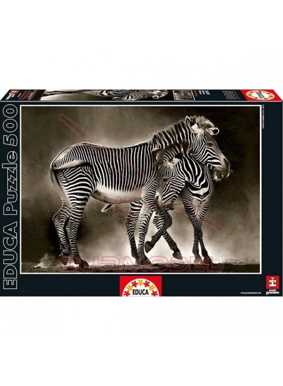 Puzzle 500 piezas Cebras