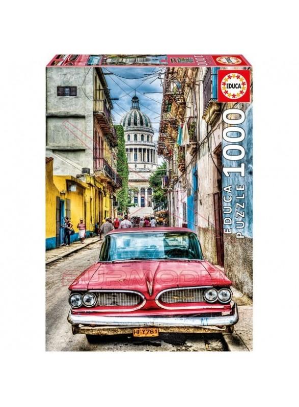 Puzzle 1000 piezas Coche en la Habana