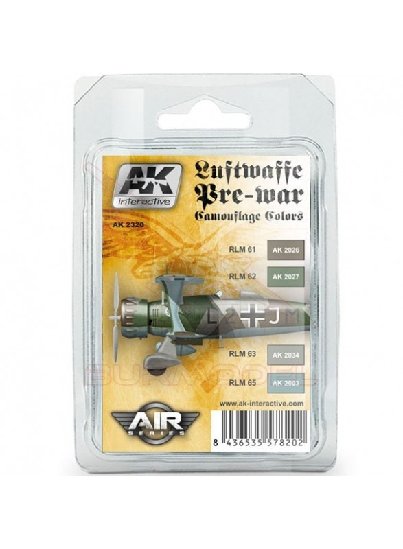 Set Colores camuflaje Luftwaffe AK Air Series