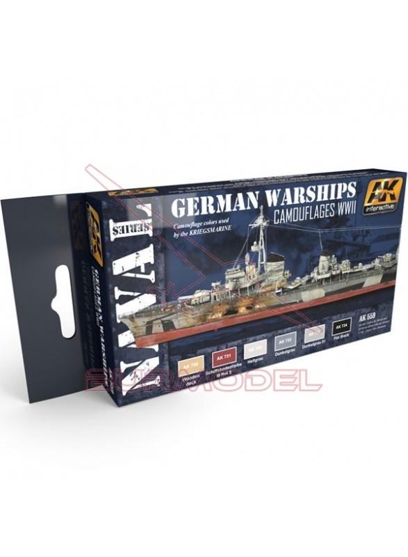 Set de colores camuflaje barcos alemanes WWII