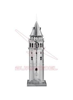 Maqueta de metal Torre de Galata, Turquía