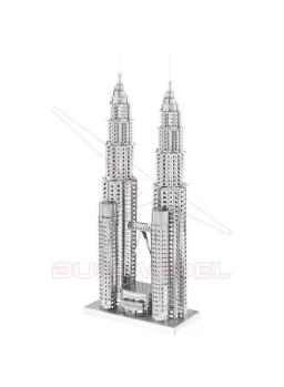 Construcción 3D de metal Torres Petronas, Malasia