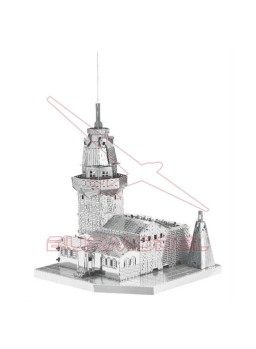 Maqueta de metal 3D Maiden's Tower, Estambul