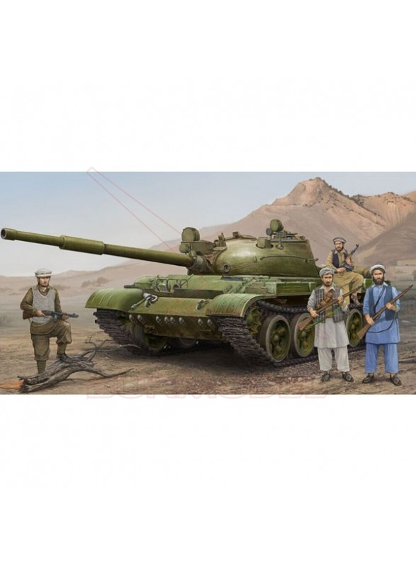 Maqueta Tanque Ruso T62 año 1975-1972+KTD2 1/35
