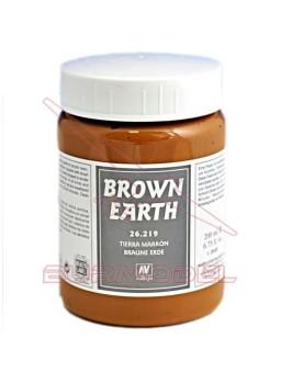 Pasta acrílica Tierra marrón