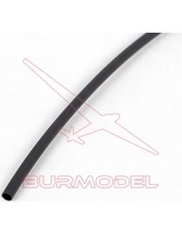 Tubo termoretractil negro 1,5mm 1metro