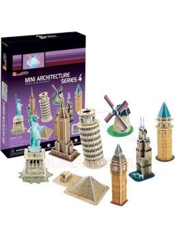 Puzzle 3D 60 piezas Mini Arquitecture serie 4