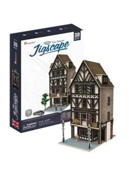 Puzzle 3D Restaurante Tudor escala H0 44 piezas
