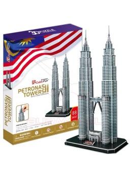 Puzzle 3 dimensiones Torres Petronas
