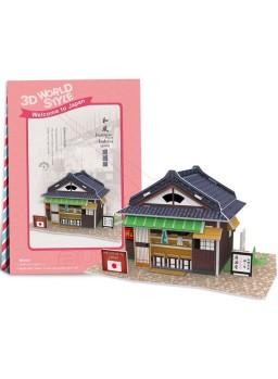 Puzzle 3D Restaurante típico Japonés 25 piezas