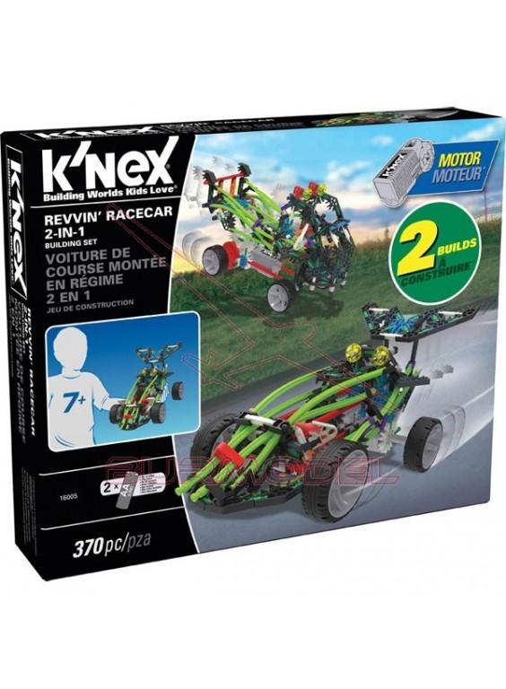 K'Nex 370 piezas coche 2 en 1 con motor
