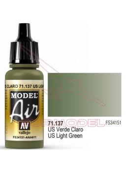 Acrílico Vallejo Model Air US Verde claro 17 ml