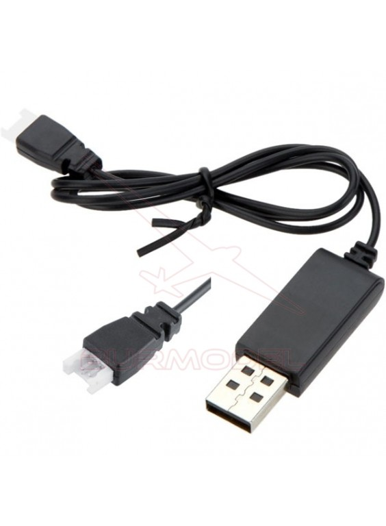 Cargador USB batería de lipo 3,7V conector blanco