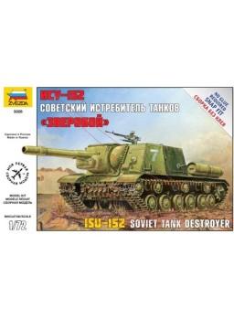 Maqueta tanque destructor soviético ISU-152 1/72