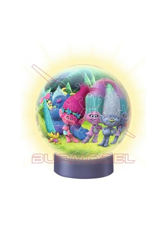 Puzzle 3D Lámpara Trolls 72 piezas