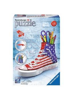 Puzzle 3D zapatilla portalápices 108 piezas