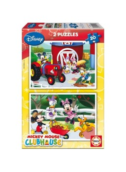 Puzzles 20 piezas Mickey Mouse Club House