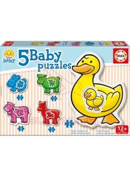 Puzzles infantil animales granja 2, 3 y 4 piezas