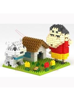 Juego de montaje Shin Chan con perrito 300 piezas