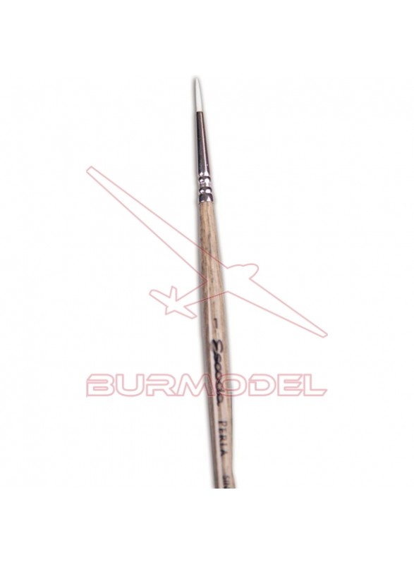 Pincel redondo Toray blanco perla 1