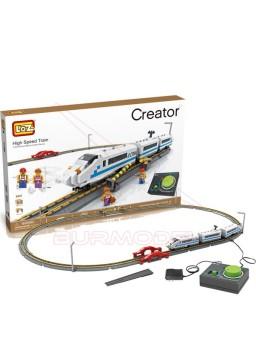 Tren eléctrico para construir con minibloques 660 piezas