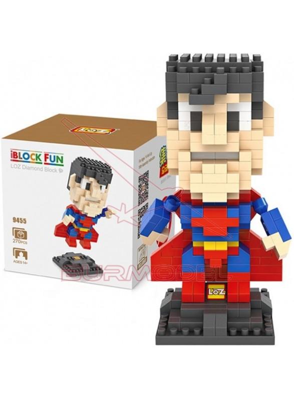 Juego para construir Superman 270 mini bloques